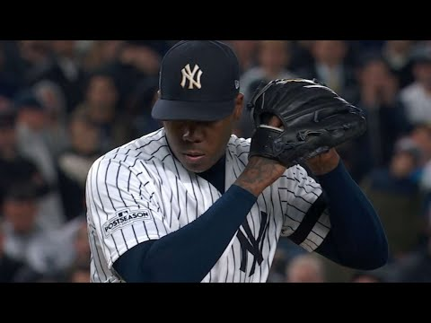 ALCS Gm4: Chapman strikes out two to secure the save