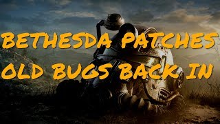 Fallout 76's New Patch Puts Previously Fixed Bugs BACK Into The Game