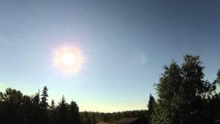 Nearly 24 hours of sunlight; Solstice in Fairbanks, Alaska 2015