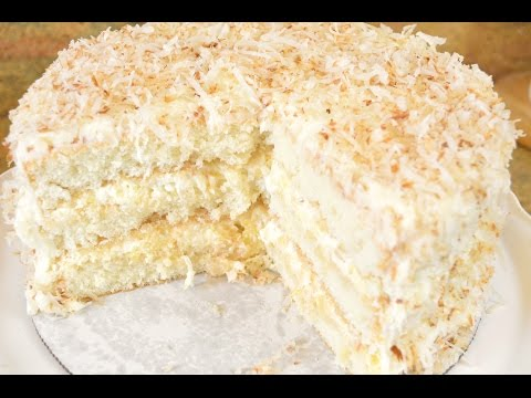 Video Southern Coconut Pineapple Cake Recipe- Fluffy Coconut & Pineapple REALNESS |Cooking With Carolyn