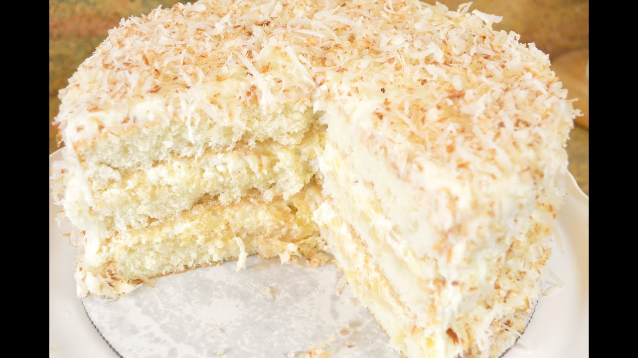 Southern Coconut Pineapple Cake Recipe Fluffy Coconut