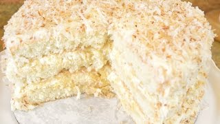 Southern Coconut Pineapple Cake Recipe - Fluffy Coconut & Pineapple REALNESS | Cooking With Carolyn