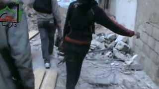 preview picture of video 'داريا - كتيبة سعد بن أبي وقاص- تجهيزات المجاهدين لعتادهم قبل المعركة 14-4-2013'