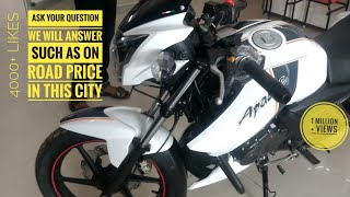 Apache RTR 160 BS4 2018 bike , top speed , on road price delhi TVS BIKE REVIEW with CC LANGUAGES