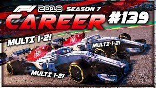 MULTI 1-2! MULTI 1-2! TEAM-ORDERS IGNORED?! - F1 2018 Career Mode Part 139