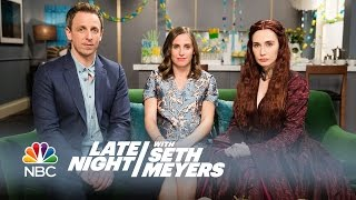 Melisandre at a Baby Shower - Late Night with Seth Meyers