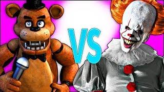 ОНО VS 5 НОЧЕЙ С ФРЕДДИ | СУПЕР РЭП БИТВА | Pennywise It movie ПРОТИВ 5 Nights At Freddy песня