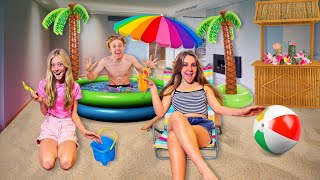 TURNING MY HOUSE INTO A BEACH!! **The Squad Reacts**🏖   Piper Rockelle