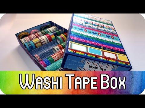 DIY Aufbewahrung für Washi Tape: Aufbewahrungsbox mit Deckel - Ordnung im Bastelzimmer | kreativBUNT