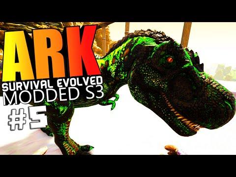 ARK Survival Evolved - BABY POISON TREX, AUTO HARVESTING