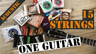 What are the BEST Acoustic Guitar Strings ? - Massive Shootout !