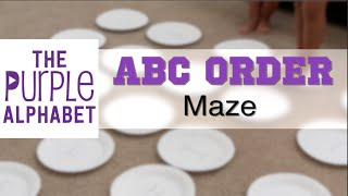 Alphabetical Order ABC Maze - Cheap and Easy Activity