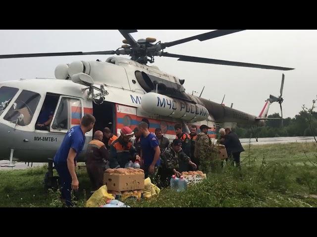 2,5 тонны продуктов доставили в затопленные деревни