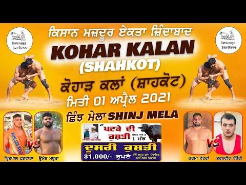 Kohar Kalan (Shahkot) Shinj Mela 01 Apr 2021