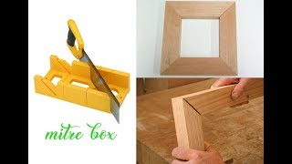 Mitre box for easy perfect 45 degree cut