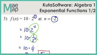 KutaSoftware: Algebra 1- Exponential Functions Part 1