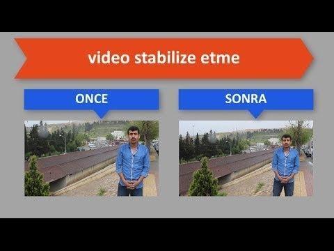 Hitfilm Türkçe dersler - Videoda ki Titreşimi Azaltmak