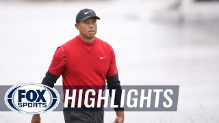 Round 4: Tiger Woods, Jason Day And Adam Scott | 2019 U.S. OPEN HIGHLIGHTS