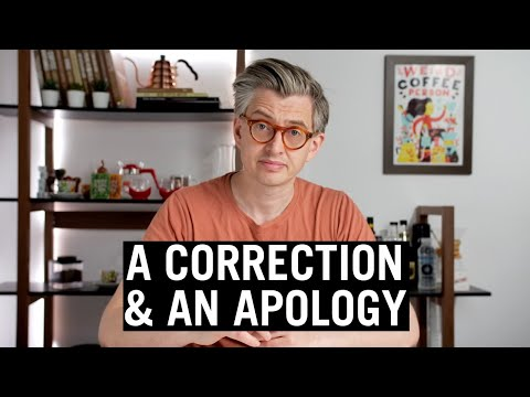 Youtuber admits to and makes a genuine apology for a mistake. Super refreshing to see.