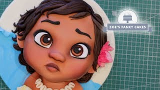 Moana cake | Baby Moana cake tutorial - Video Youtube