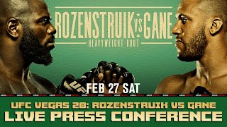 UFC Fight Night 186 Press Conference: Rozenstruik vs. Gane | LIVE Coverage by MMA Weekly