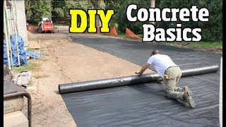Concrete basics for Beginners from top to bottom, ground prep, rebar, sealing & protecting