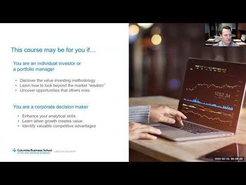 Columbia Executive Education   Value Investing   Webinar - YouTube