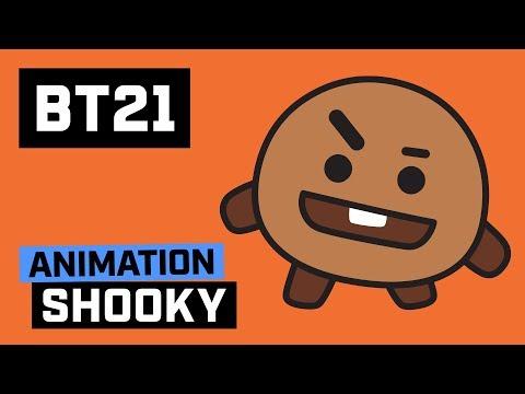 Cute Bts Wallpaper Video Bt21 Hi I Am Shooky 171205