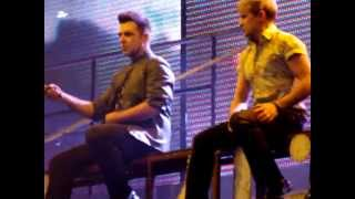 Westlife singing I Gotta Feeling and Sex on Fire in the Tour Medley live in Belfast 2012