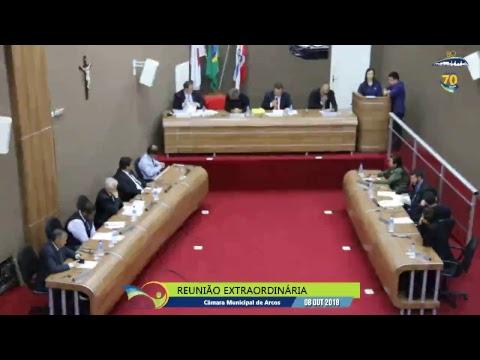 Reunião Ordinária (08/10/2018) - Câmara de Arcos