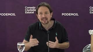 Pablo Iglesias en la apertura del Consejo Ciudadano Estatal