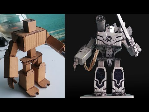 kartondan-maket-robot-yapmak-making-a-model-robot-from-cardboard-emerce-pictures