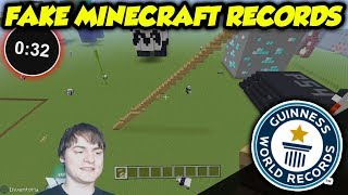 I Beat A World Record In Minecraft To Prove They're FAKE