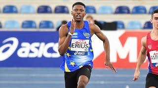 Miramas 2021 : Le record de France cadets du 60 m de Jeff Erius en 6''78