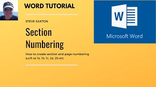 Section numbering in Microsoft Word,  Section 1a, 1b, 1c and then second 2a, 2b