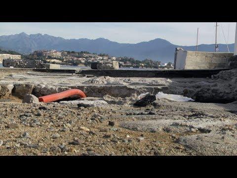 VIDEO. La tempête Adrian a métamorphosé les plages d'Ajaccio