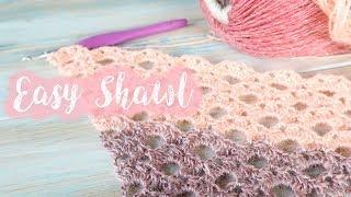 Easy Crochet Shawl / Lace Arcade Crochet Stitch