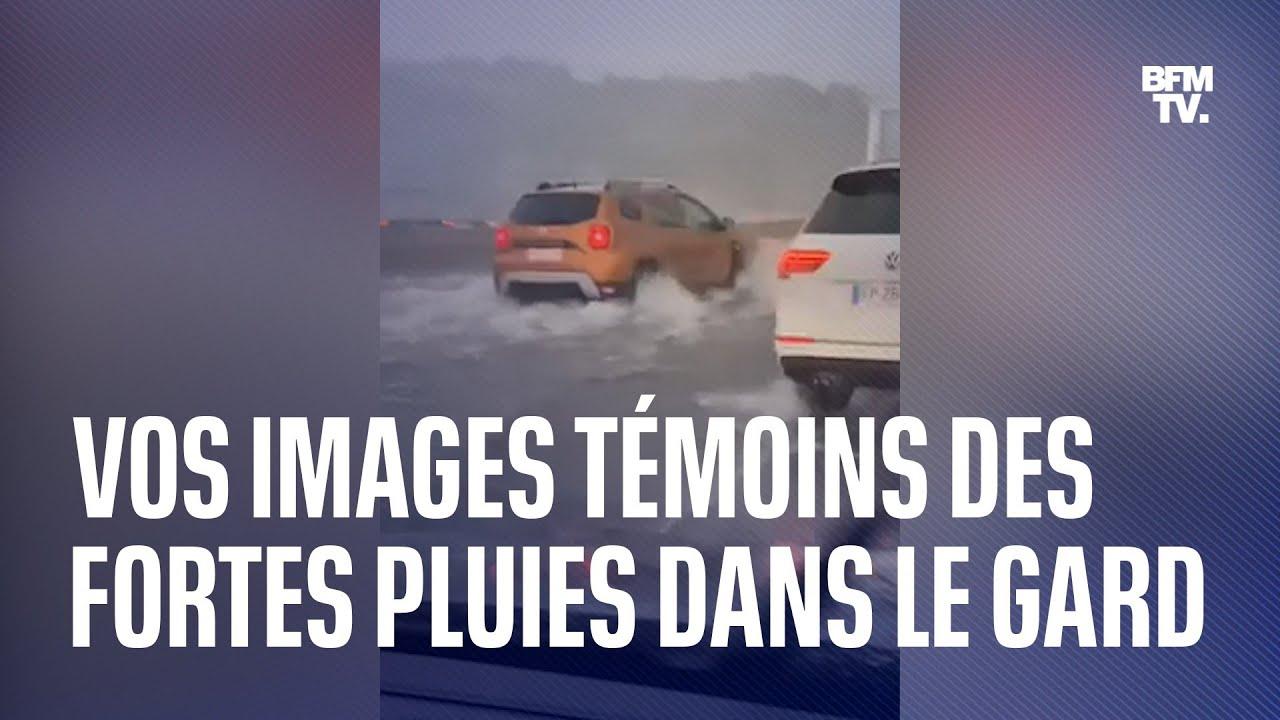Orages et inondations: vos images témoins dans le Gard, placé en vigilance rouge