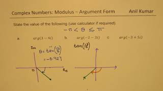How to Calculate the Argument in Complex Number with Calculator