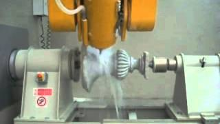 Breton Shapemill 5 axis stone work centre while is realizing