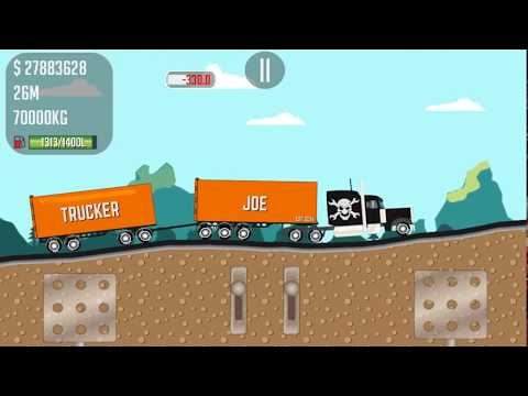 Trucker Joe is transporting a brick on a new truck to a dairy factory - Game