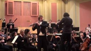 Mendelssohn violin ( flute ) concerto in e minor mvt1, Sébastian Jacot, Prof. Jacques Zoon