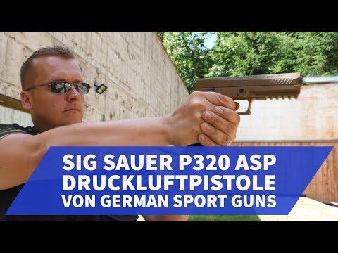 SIG Sauer P320 ASP CO2 Druckluftpistole von German Sport Guns am Schießstand ausprobiert