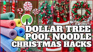 POOL NOODLE CHRISTMAS HACKS┃AMAZING DOLLAR TREE NOODLE HACKS THAT WILL IMPRESS EVERYONE YOU KNOW