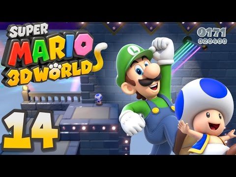 Super Mario 3D World Co-op | Ep 14 | TRICKY TRAPEZE!