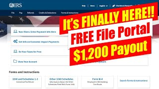 FINALLY!! The IRS Free Tax File Page