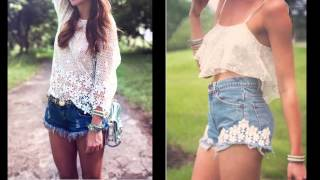 outfits con shorts jeans