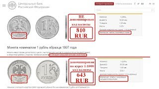 #БАНКОВСКИЕ #АФЁРЫ $15 #Секрет #достоинства #российских #монет #рубли РФ #кода #валют #810 #RUR #SUR
