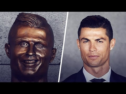 Cristiano Ronaldo's reaction when he first saw his statue | Oh My Goal