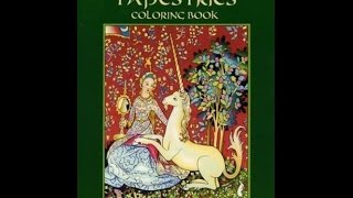 Flip Through Dover Medieval Tapestries Coloring Book By Marty Noble